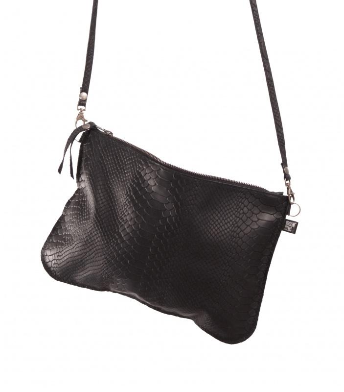 Snake black clutchbag - Rockin 'Items