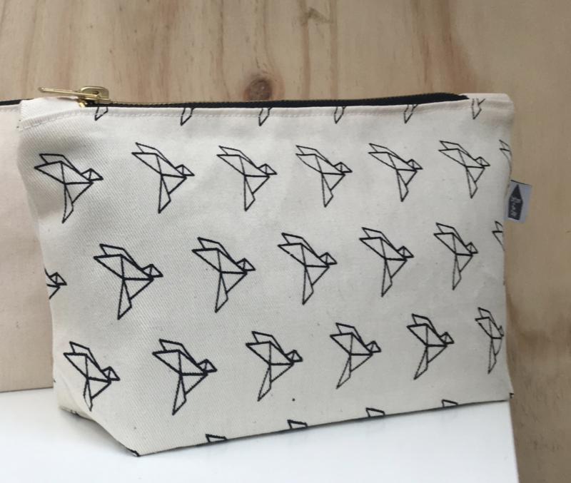 Toilettasje origami vogel - Cotton & Clay