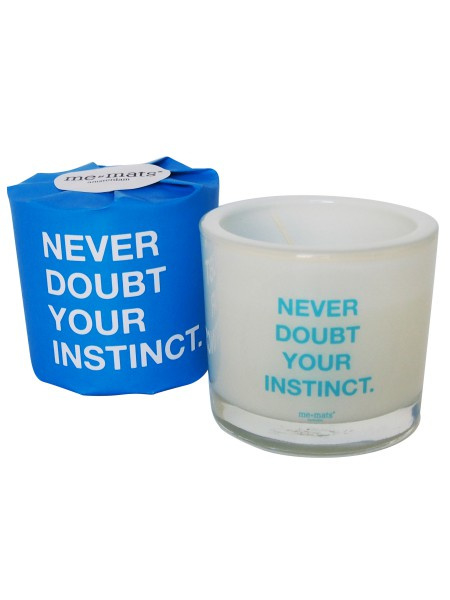 Geurkaars 'Never doubt your instinct' - Me&Mats