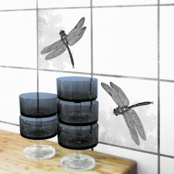 Tegelsticker Libelle  - Boubouki