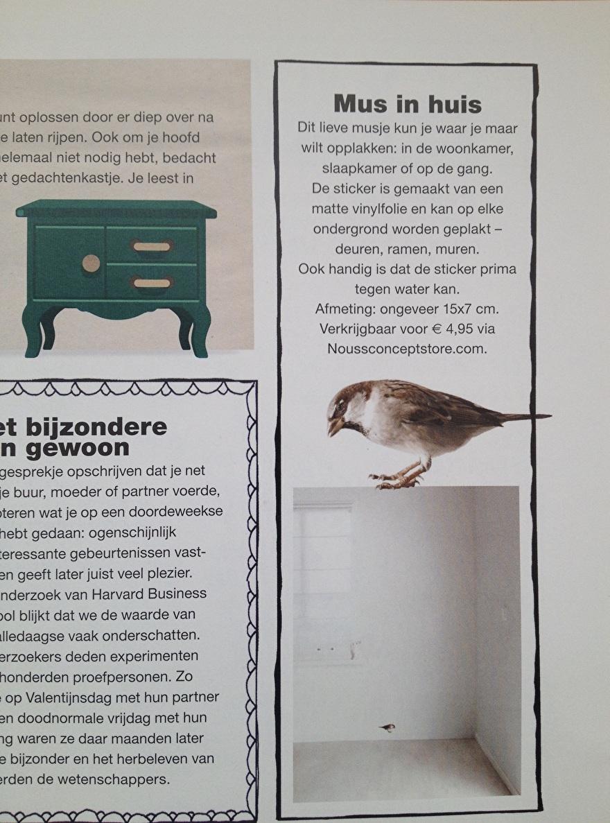 FLOW nr.1 2015 - muursticker musje Kek Amsterdam