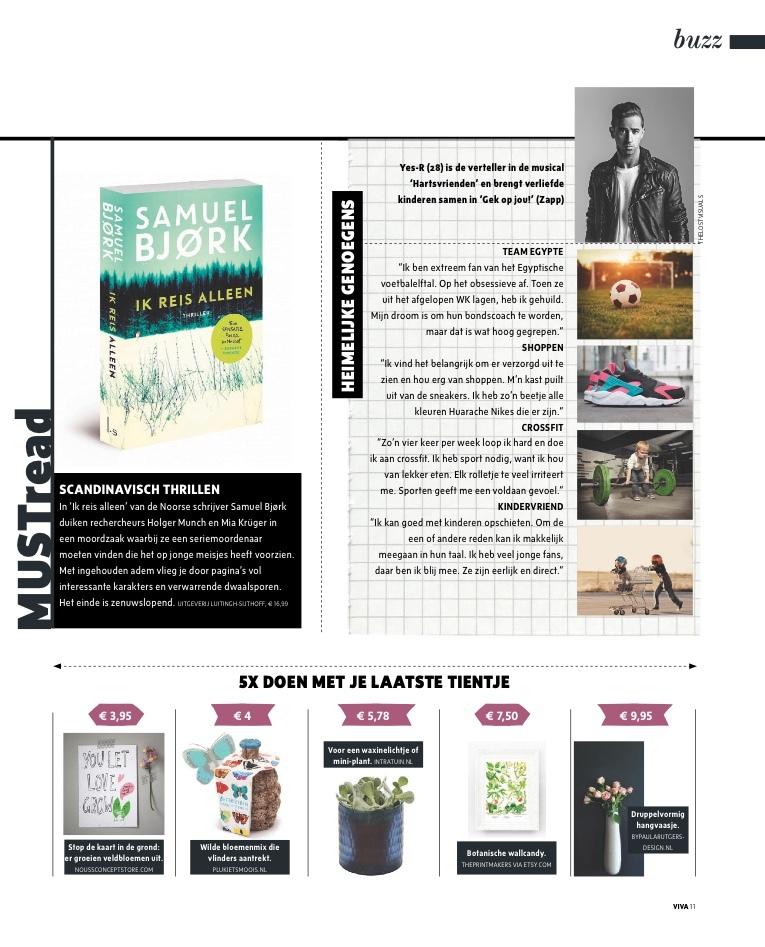 Kaartje Let love grow-tijdschrift Viva