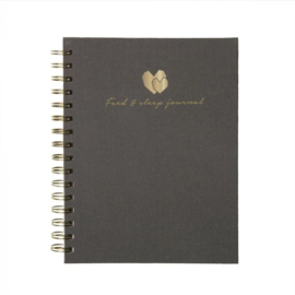 Food & Sleep journal - Linnen hardcover - Grijs