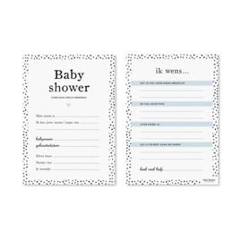 Invulkaarten - Babyshower - Stoer klein mannetje - 15 st