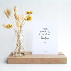 Gedenkplekje - Veel sterkte, kracht en liefde