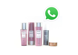 Sample pakket met whatsapp call