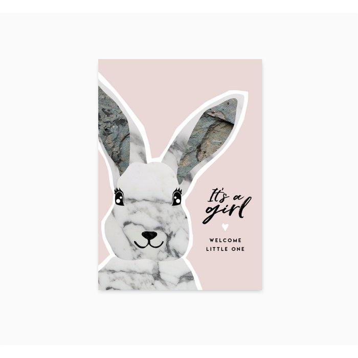 ANSICHTKAART - IT'S A GIRL