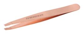 Tweezerman Pincet met schuine punt Rosé