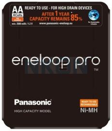 Eneloop Pro NiMH AA - 2500 mAh (oplaadbaar) - 4 stuks