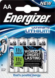 Energizer Lithium L91 AA (niet oplaadbaar) - 4 stuks