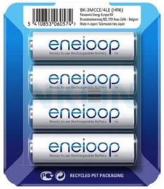 Eneloop Ni-MH batterijen 1900 mAh  4 stuks