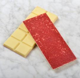 Chocoladereep: wit met framboos