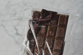 Chocolade zeep tablet