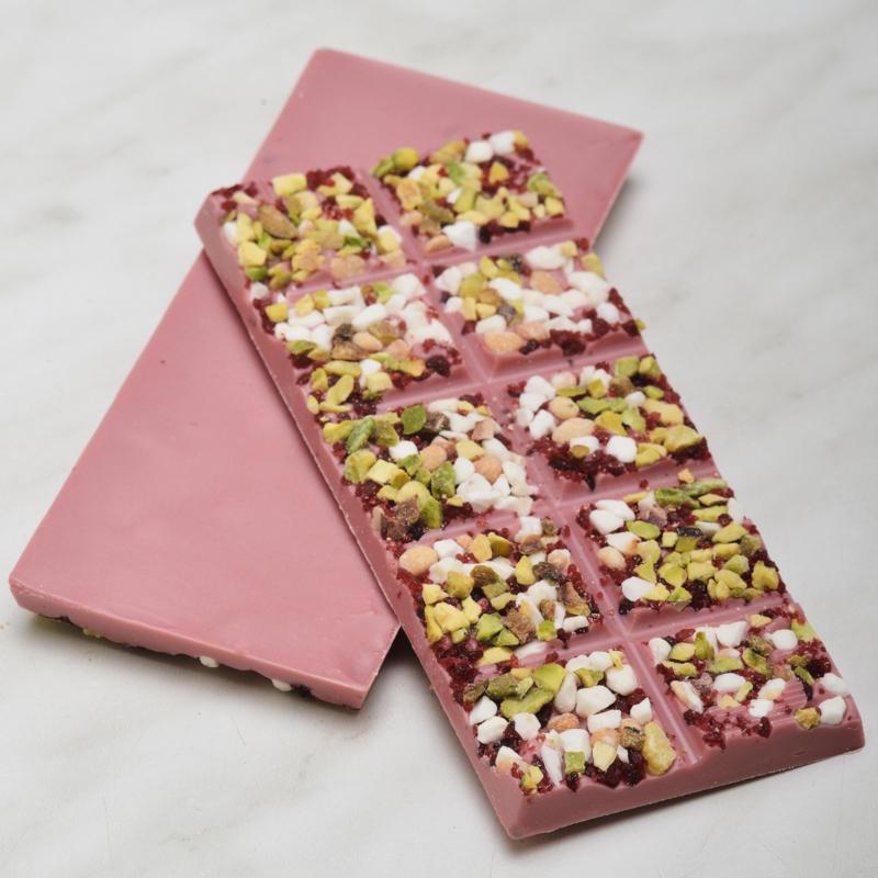 Chocoladereep: ruby met topping