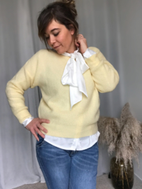 Rosa Sweater  Soft Yellow