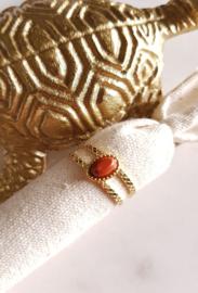 Nefertiti Ring Red Jaspis