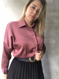 Sienna Blouse Dark Rose