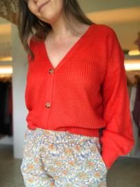 Rowan Cardigan Coral Red