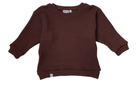 Oversized sweater | Chocolate, gebreid