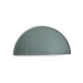Mushie silicone placemat | Confetti Sage