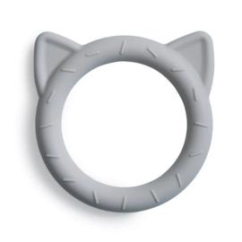Mushie | Bijtring kat - Cat Teether STONE