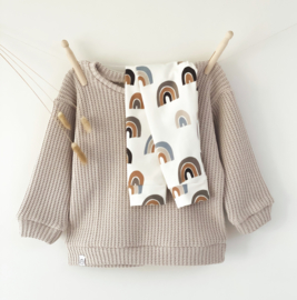 Oversized sweater   Sandstone, gebreid