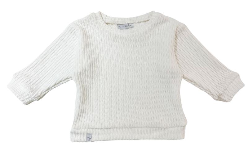 Oversized sweater | Ecru, gebreid
