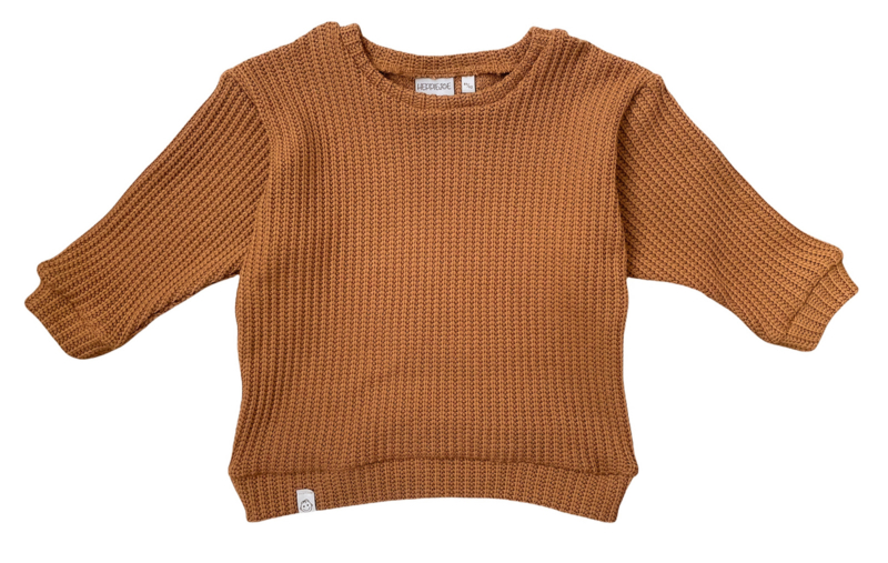 Oversized sweater | Toffee, gebreid