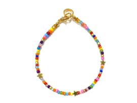Armband multicolor met sterretjes