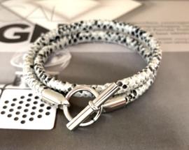 Armband leer hermes style python
