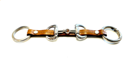 Sleutelhanger paardenbit cognac