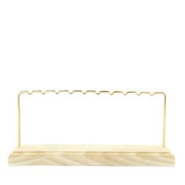 Sieraden display voor oorbellen 1 rij wood-gold