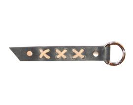 Sleutelhanger XXX grijs/beige