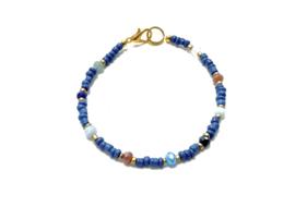 Armband blauw met edelsteentjes