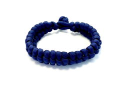 Armband gevlochten paracord blauw
