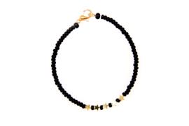 Armband zwart met sterretjes