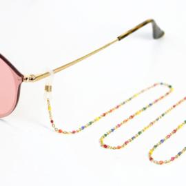 Brillenkoord multicolor goud