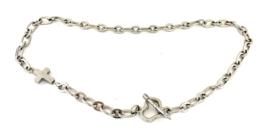 Ketting zilver stainless steel kruis/hart
