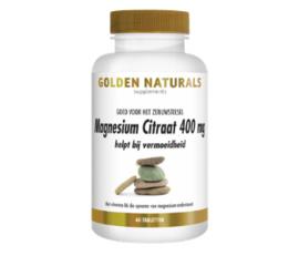 Golden Naturals Magnesium citraat 400 mg. (60 - 180 vega. tabl.)