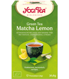 Yogi Tea Green Tea Matcha Lemon (17 theezakjes)