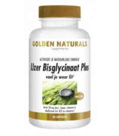 Golden Naturals  IJzer Bisglycinaat Plus (60 vega. caps.)
