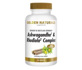 Golden Naturals Ashwagandha & Rhodiola Complex  (60  vega. caps.)