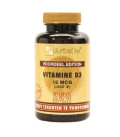 Artelle Vitamine D3 15MCG (100 / 250 caps)