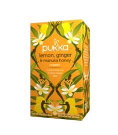 Pukka Lemon Ginger Manuka Honey (20 theezakjes)