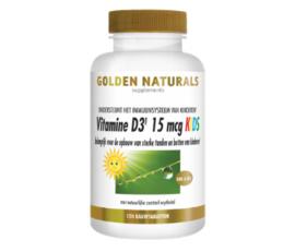 Golden Naturals  Vitamine D3 15 mcg KIDS (120 vega. kauwtabl.)