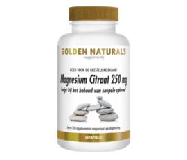 Golden Naturals Magnesium Citraat 250 mg (60 - 180 vega. caps)
