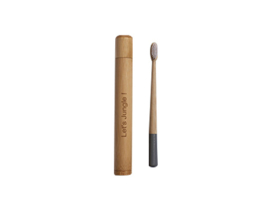 Jungle toothbrush in bamboo travel case