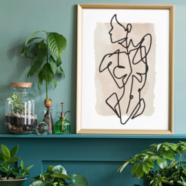 Vrouwelijke Voorkant Waterverf Print | 30x40