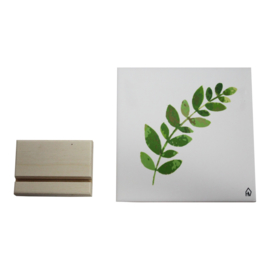 Housevitamin Decoratieve tegel Plant   Keramiek   Wit