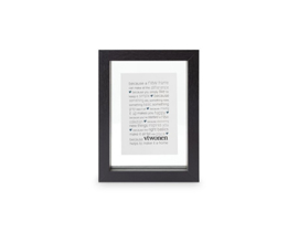 Picture Frame Wood 13,5x18 cm - Black